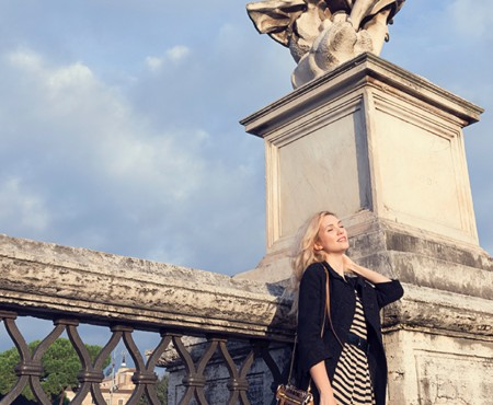 Vintage outfit in the heart of Rome