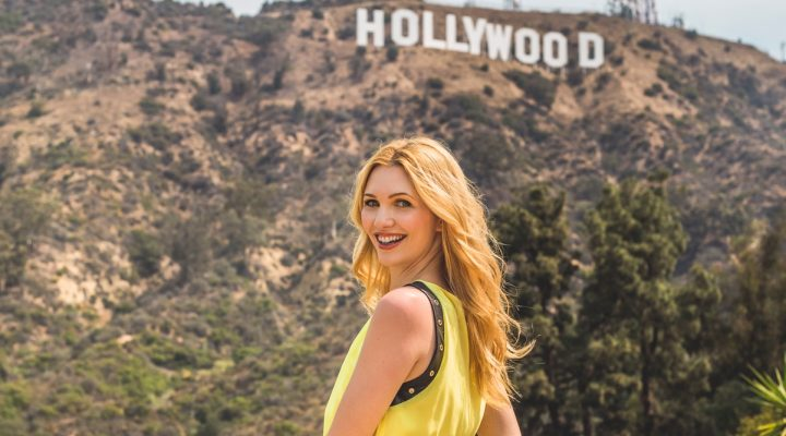 Yellow dress in Hollywood!!!