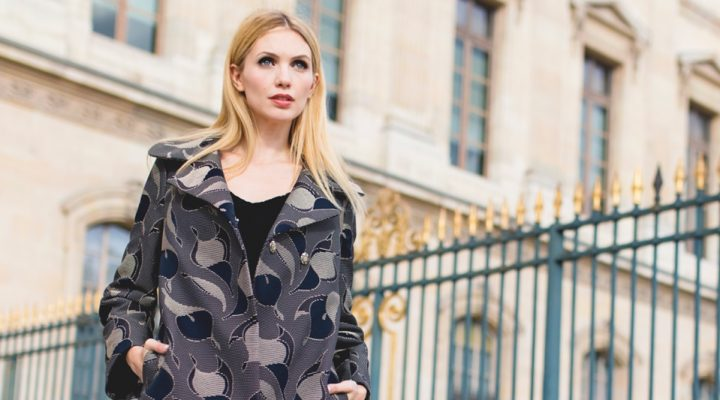 Wearing a very chic outfit like a Parisienne