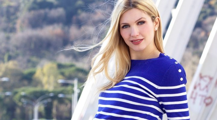 Maglia Premaman – Striped maternity and nursery knitwear